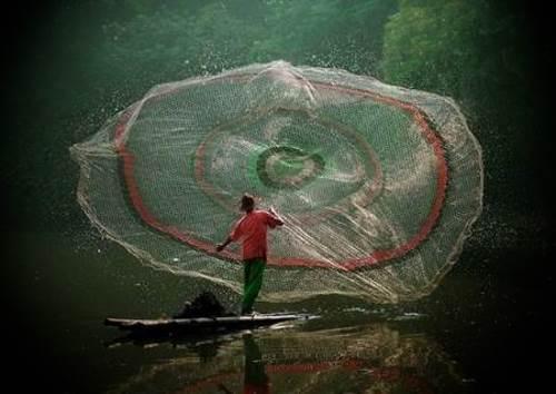 Ловля рыбы на водяной парашют