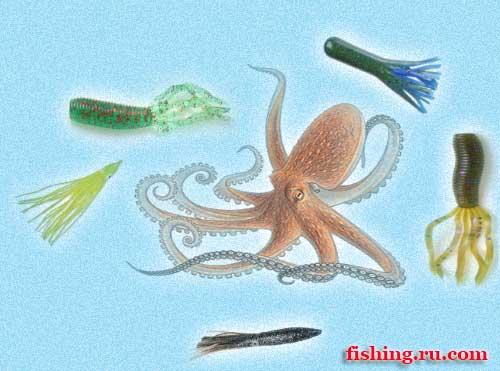 Октопус-пластиковый-осьминог