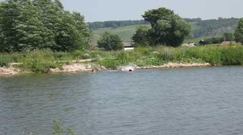 плотина на пруду