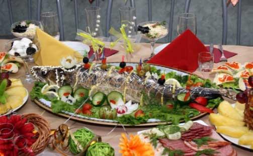 блюда на празнечный стол рыба